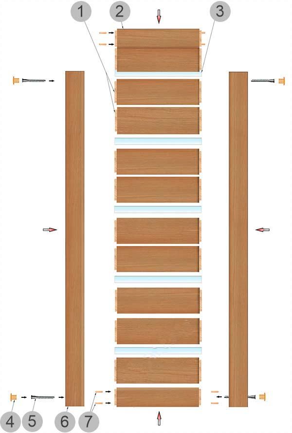 Строение царгових дверей