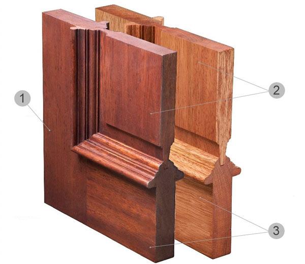 Строение дверей из филенок